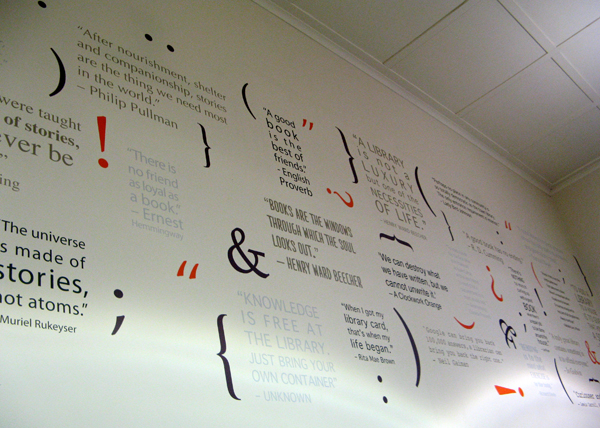 library wall quote decal mural