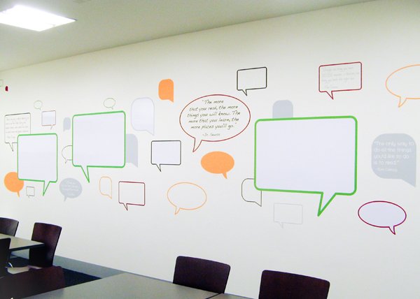 community room wall decal mural