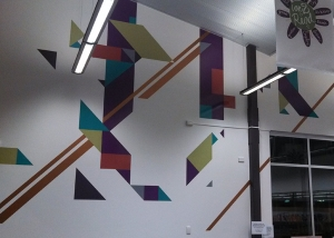 West Torrens Council Hamra Library wall art mural
