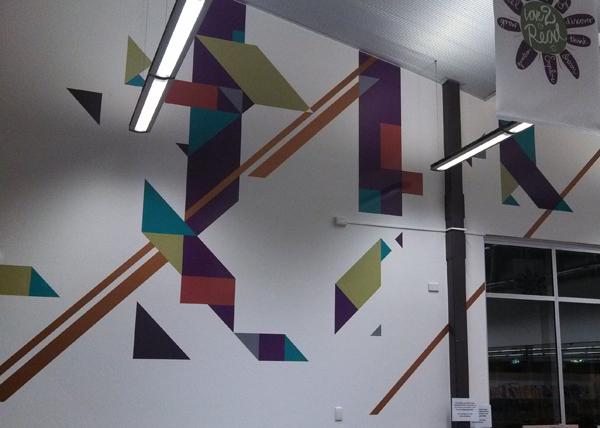 West Torrens Council Hamra Library wall art mural