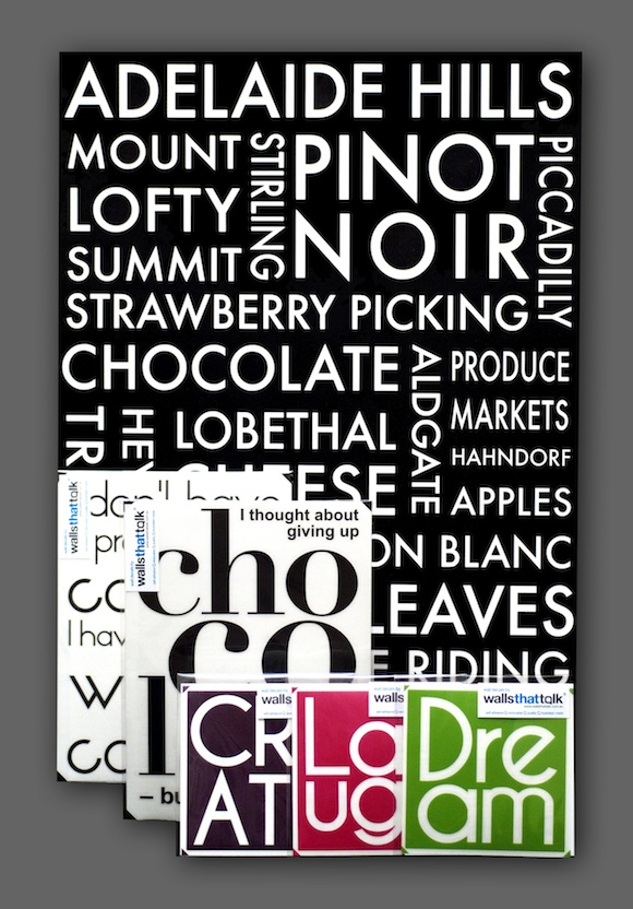 typography wall decals wholesale selection