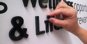 acrylic letter installation