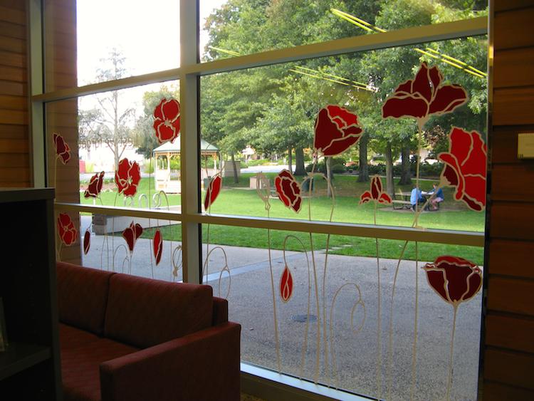 Anzac decals, Anzac Centenary window decoration, Anzac poppies stickers, Anzac anniversary decoration