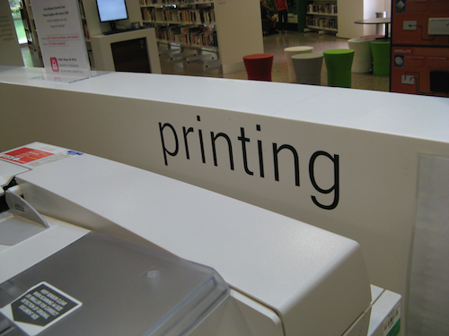 Self adhesive library lettering kit - Library Signage