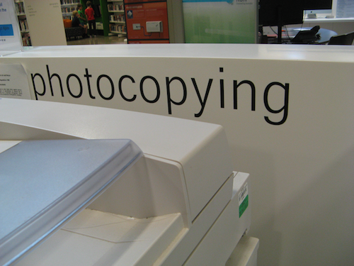 General Library Signage - self adhesive lettering