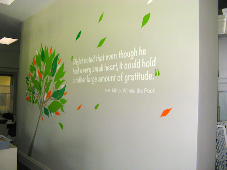 Feature wall decals