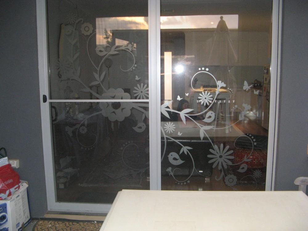 creative window frosting