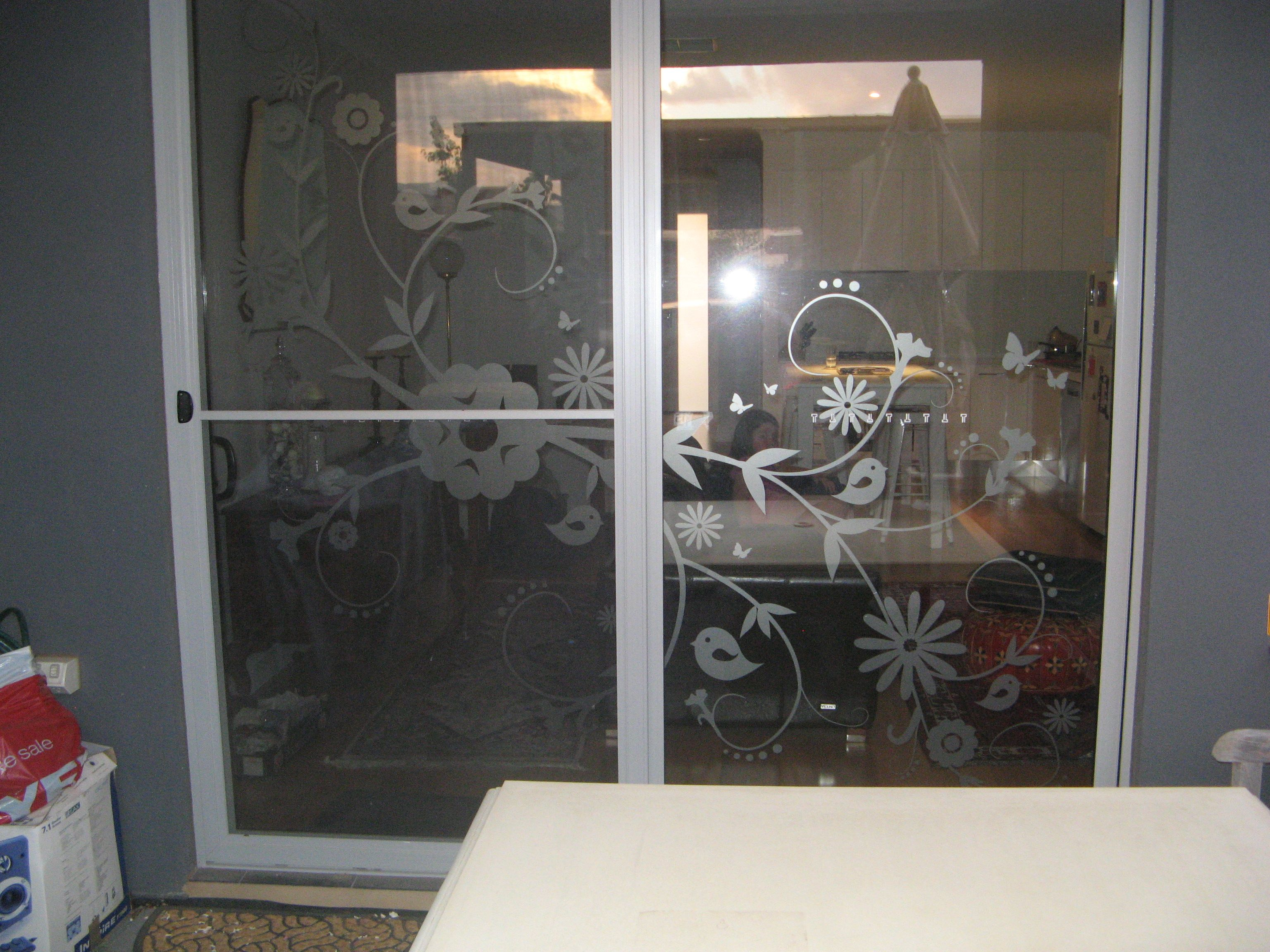 creative window frosting