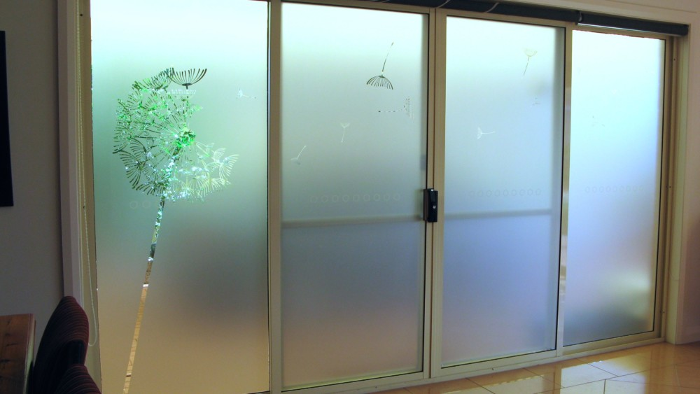 sliding door frosting, window frosting
