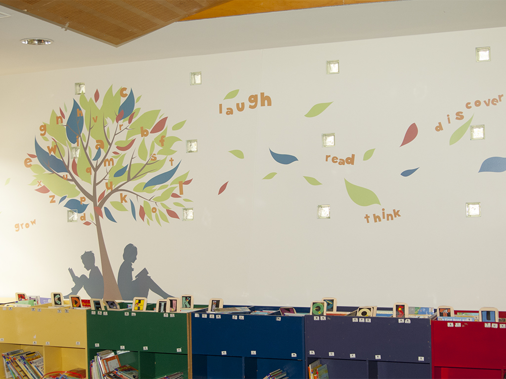 Wall Stickers Childrens Children S Area Library Feature Wall