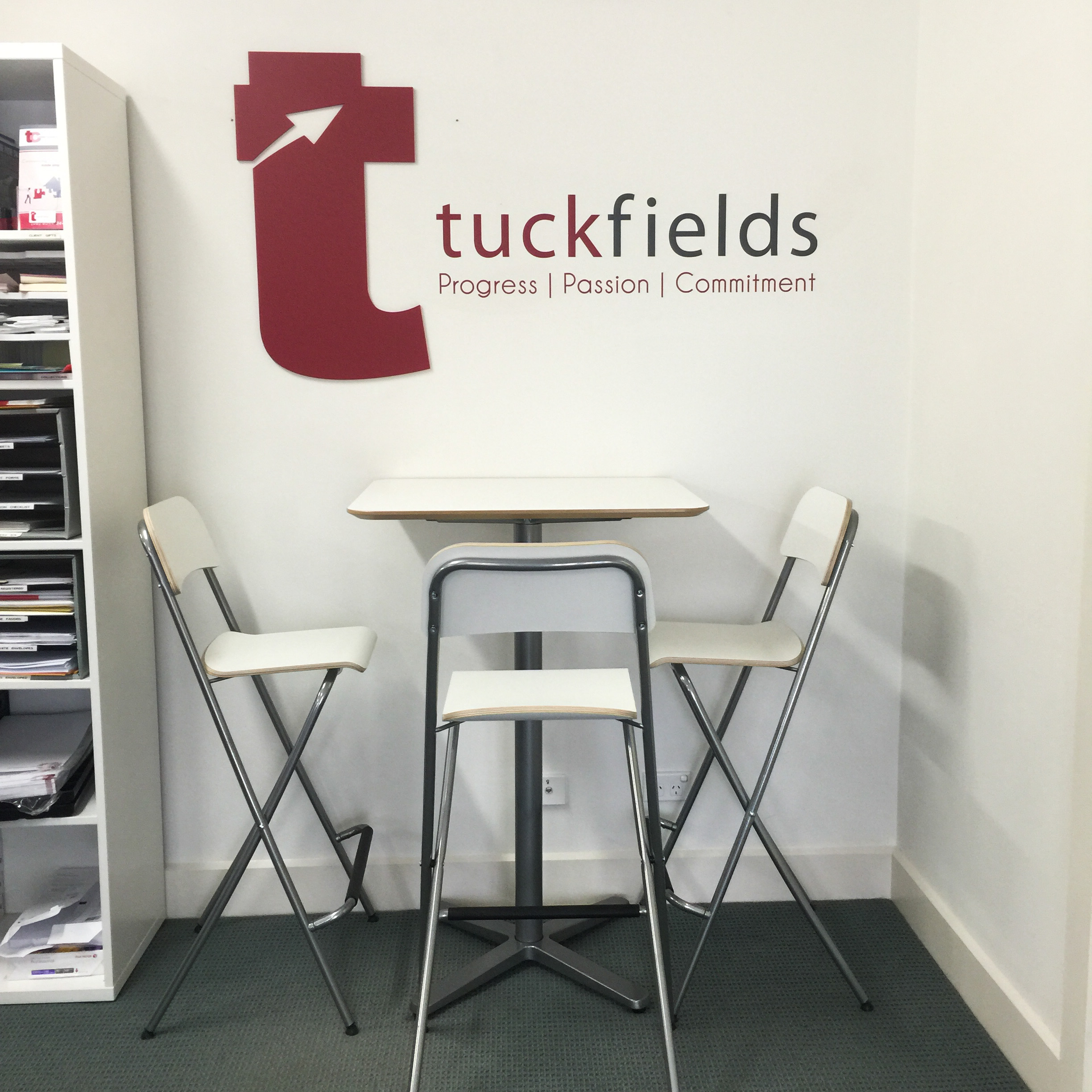 conveyancing office signage 3D logo and vinyl lettering