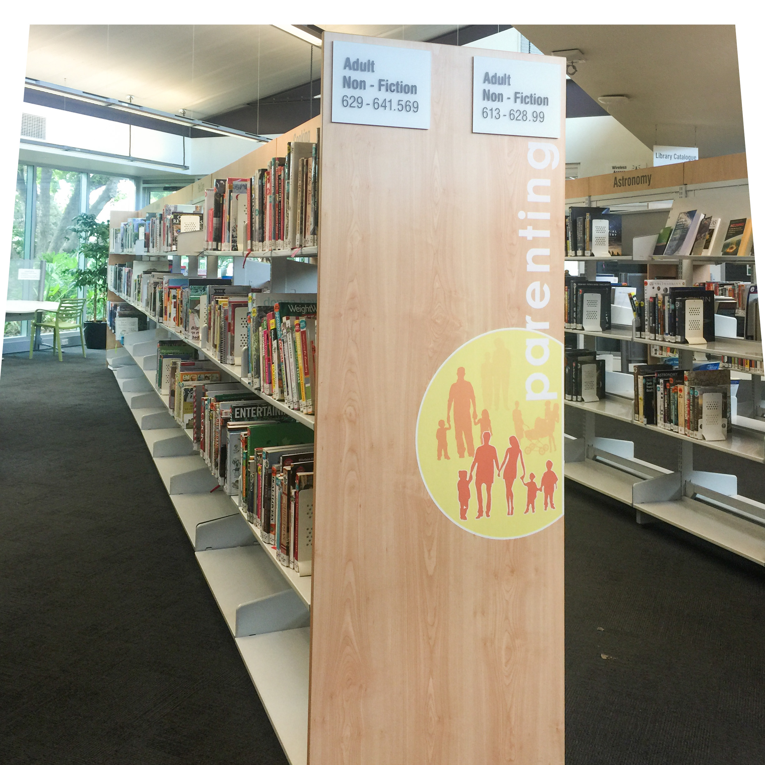 bay end features for library, Parenting