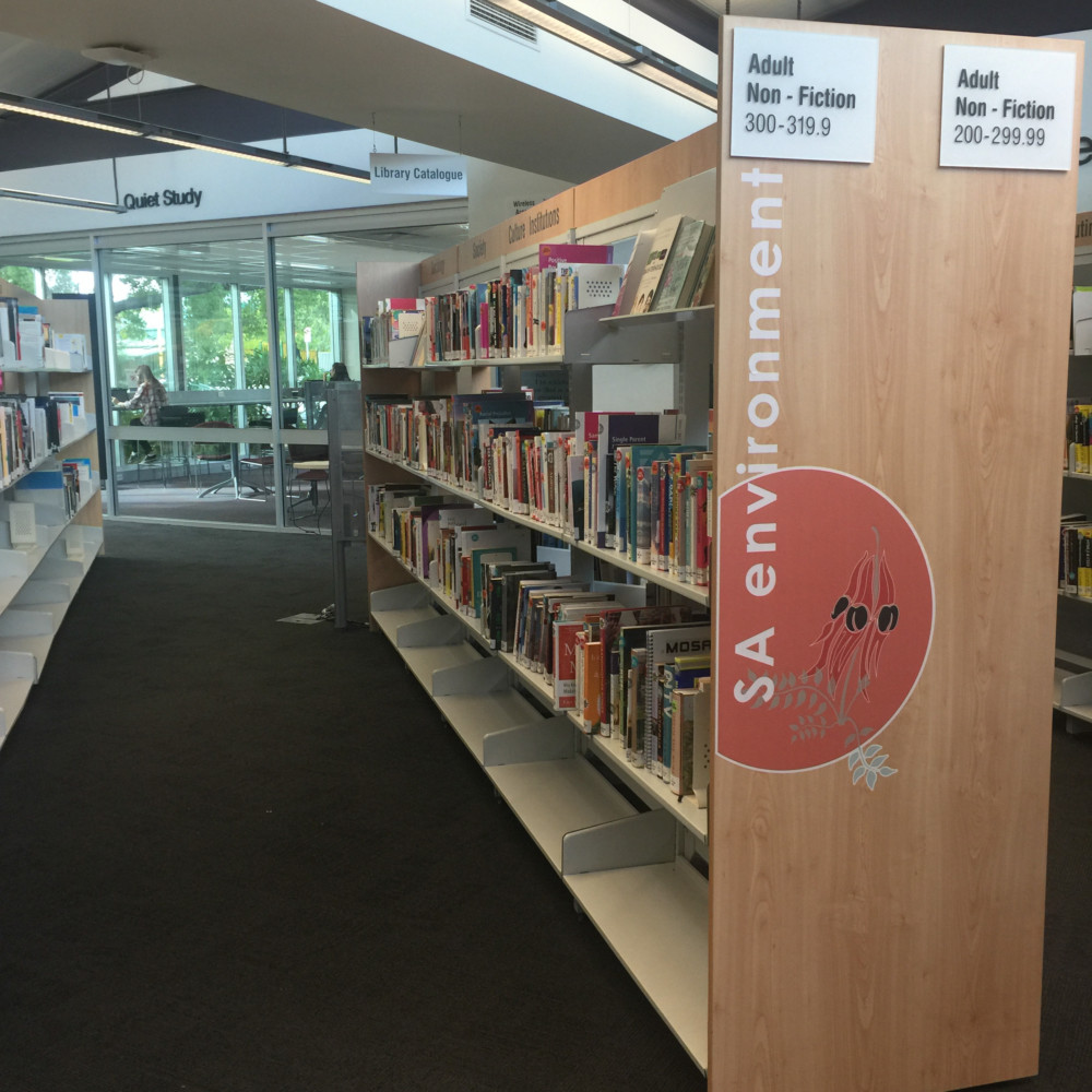 bay end features for library, SA environment