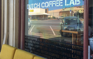 coffee shop window signage
