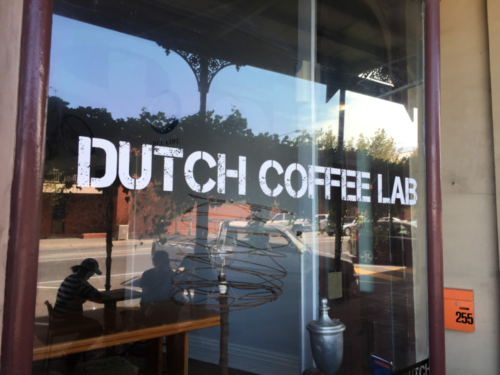 coffee shop window signage