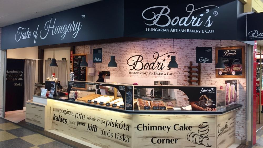 Bodri's Cafe retail shop signage, Central Market, Adelaide, SA