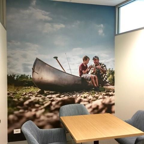 custom wallpaper MBA Financial Strategists office wall 4