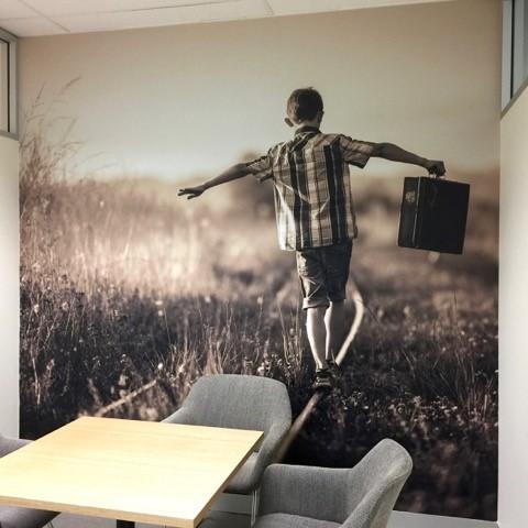 custom wallpaper MBA Financial Strategists office wall 3