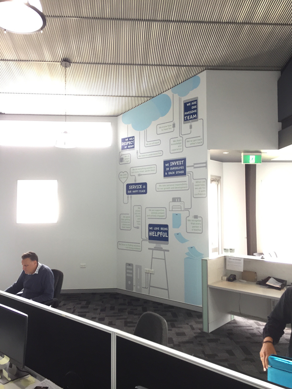 corporate values feature walls, BMS