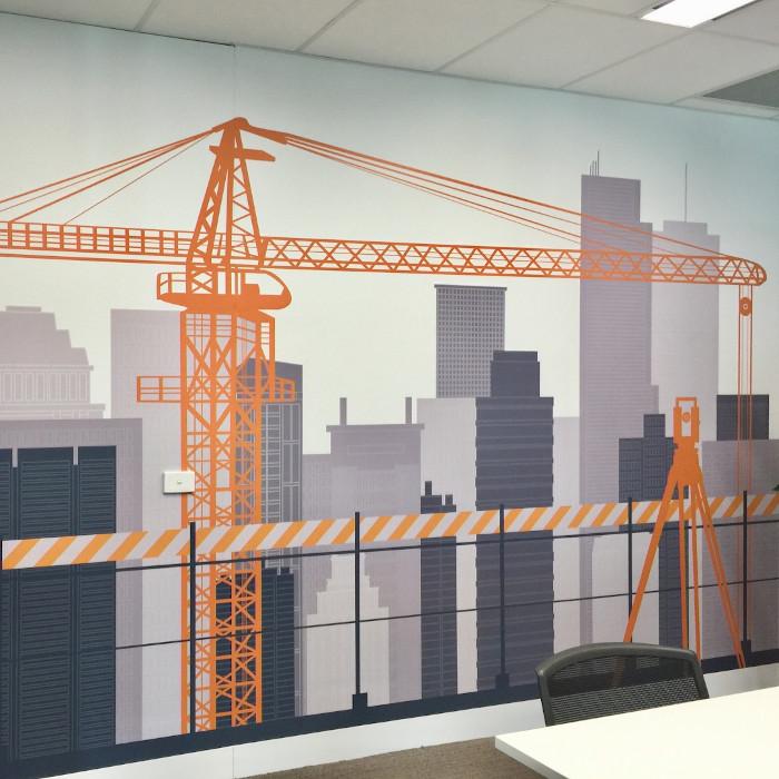 Stratacon custom wallpaper installation image 3