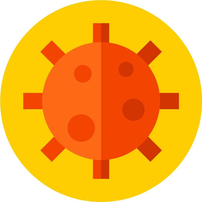 COVID-19 stickers, corona virus decals