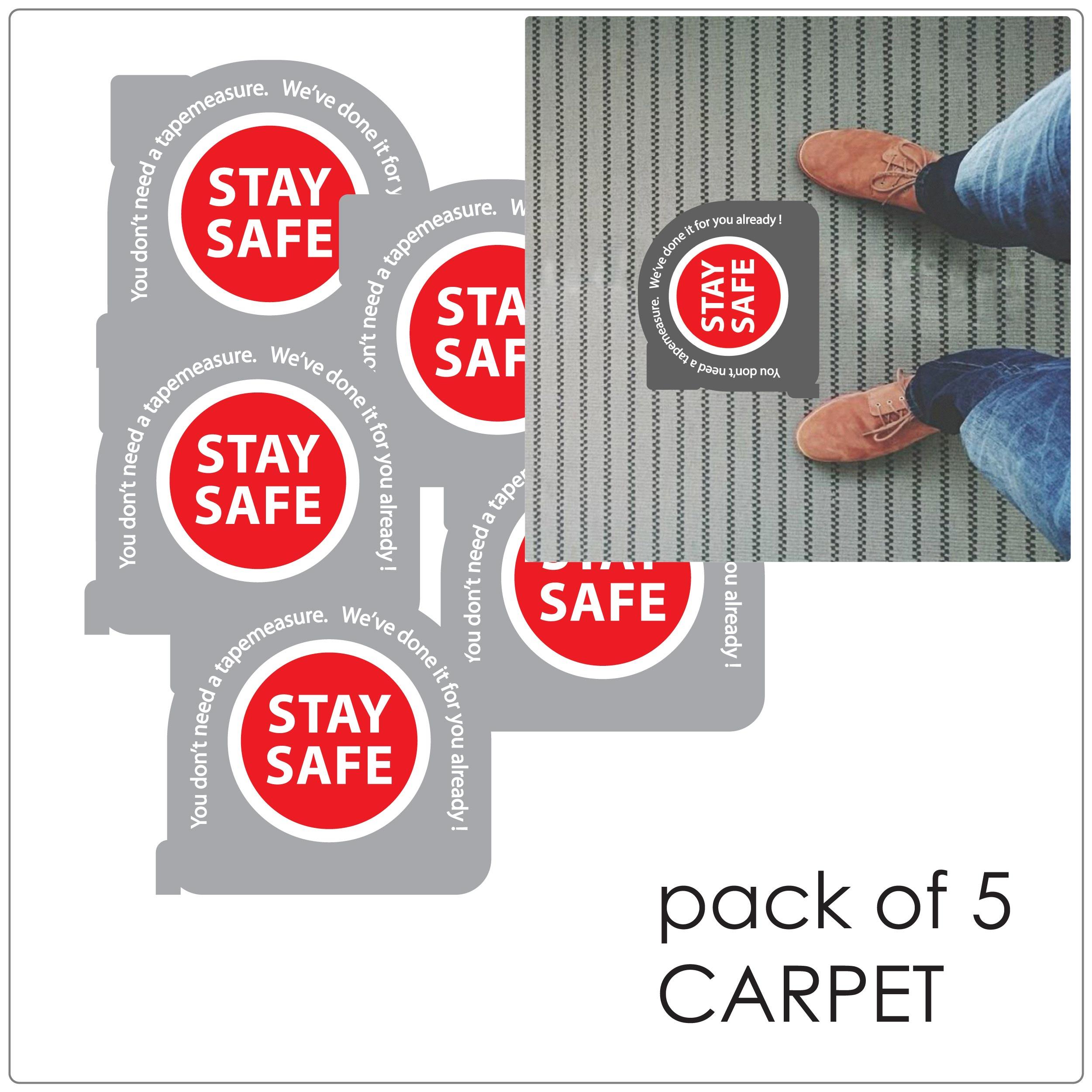 COVID-19 social distancing floor sticker for indoor floors, tape mesure