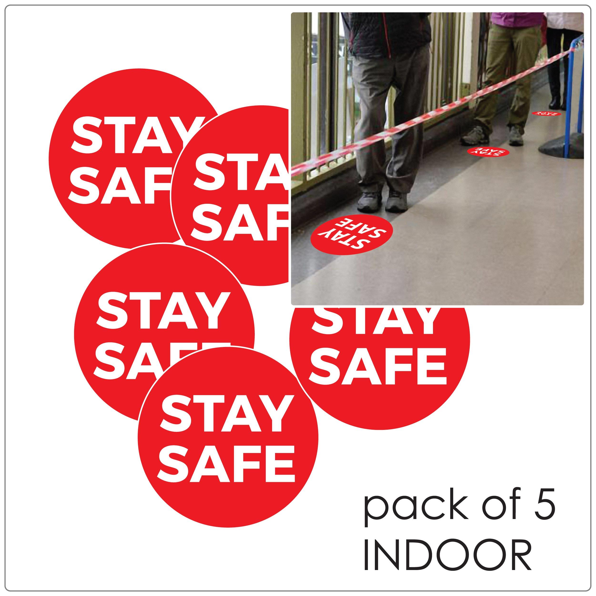 COVID-19 social distancing indoor floor sticker