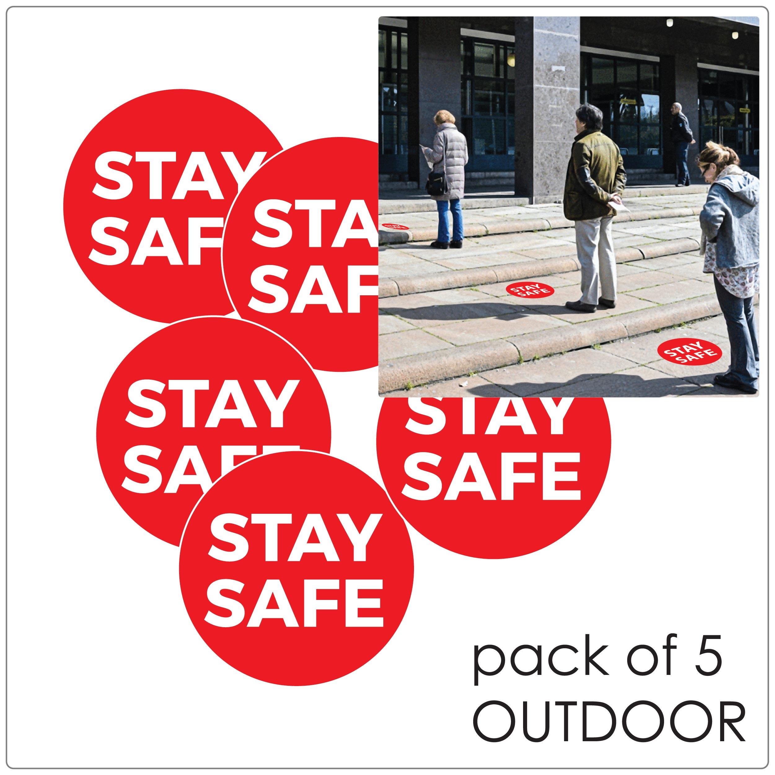 COVID-19 social distancing outdoor floor sticker