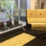 social distancing stickers were installed on plastic and upholstered furniture at the Summit Health Centre by WallsThatTalk