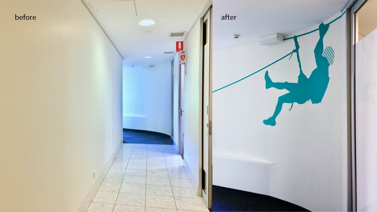 corridor before and after Wakefield Sports and Exercise Medicaine