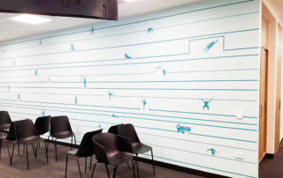 waiting room custom wallpaper