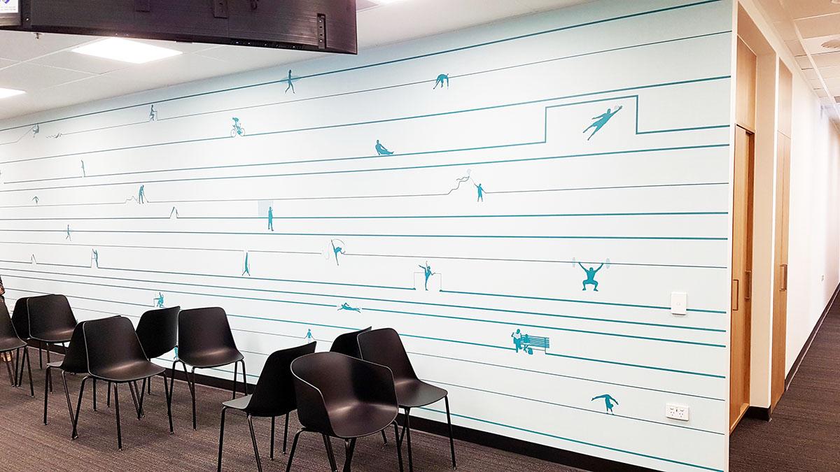 Custom Wallpaper – Wakefield Sports + Exercise Medicine Clinic