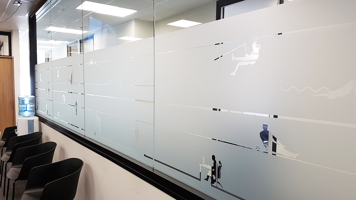 frosted effect glazing film privacy solution